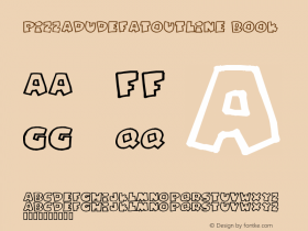 PizzaDudeFatOutline Book Version 2 Font Sample