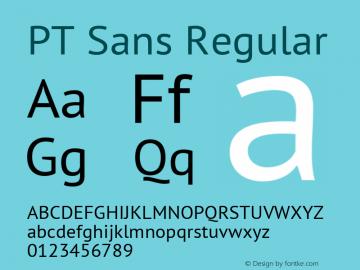 PT Sans Regular Version 2.005W Font Sample