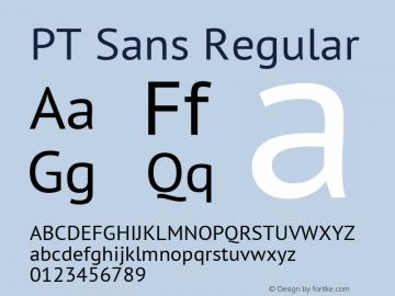 PT Sans Regular Version 2.001 Font Sample