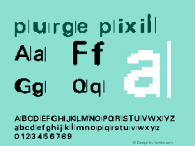 purge pixil v1.8 ((xero harrison - http://fontvir.us))图片样张