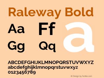 Raleway Bold Version 3.000; ttfautohint (v0.96) -l 8 -r 28 -G 28 -x 14 -w