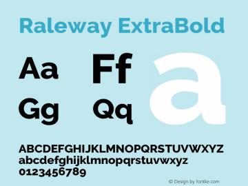 Raleway ExtraBold Version 3.000; ttfautohint (v0.96) -l 8 -r 28 -G 28 -x 14 -w