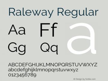 Raleway Regular Version 3.000; ttfautohint (v0.96) -l 8 -r 28 -G 28 -x 14 -w