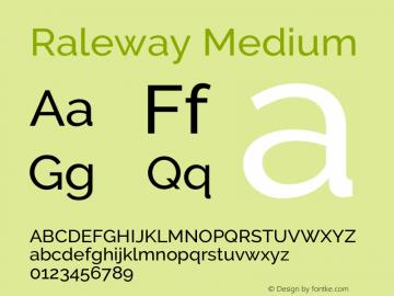 Raleway Medium Version 3.000; ttfautohint (v0.96) -l 8 -r 28 -G 28 -x 14 -w