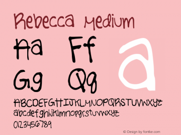 Rebecca Medium Version 001.000图片样张