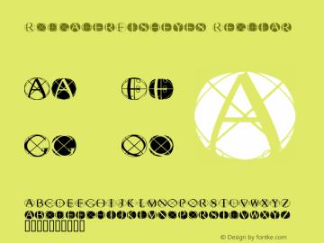 RodgauerFisheyes Regular Macromedia Fontographer 4.1.3 03.01.2002 Font Sample