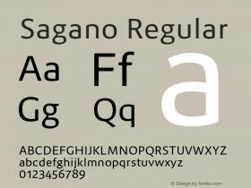 Sagano Regular Version 1.000;PS 001.000;hotconv 1.0.70;makeotf.lib2.5.58329图片样张