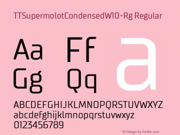 TTSupermolotCondensedW10-Rg Regular Version 1.00图片样张