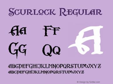 Scurlock Regular Altsys Fontographer 4.0.3 7/7/99 Font Sample