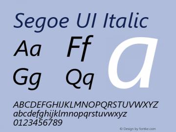 Segoe UI Font,Segoe UI Italic Font,Segoe UI Cursiva Font