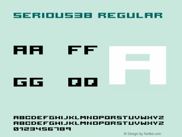 serious3b Regular 2001; 1.0, initial release Font Sample