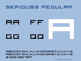 serious3 Regular 001.000 Font Sample