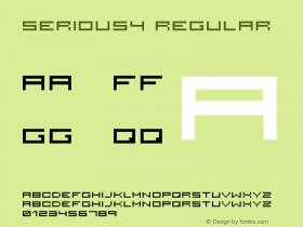 serious4 Regular 2001; 1.0, initial release Font Sample