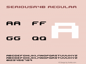seriousr4b Regular 2001; 1.0, initial release Font Sample