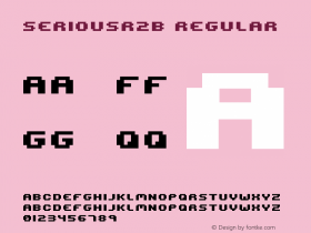 seriousr2b Regular 2001; 1.0, initial release Font Sample
