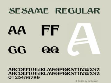 Sesame Regular 001.024 Font Sample