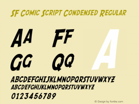 SF Comic Script Condensed Regular ver 1.0; 2000. Freeware. Font Sample