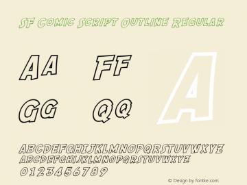 SF Comic Script Outline Regular ver 1.0; 2000. Freeware. Font Sample
