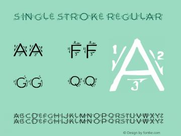 Single Stroke Font,SingleStroke Font Single Stroke 1 865234