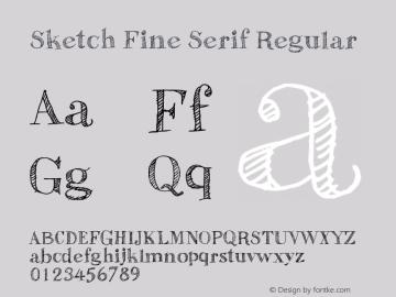 Sketch Fine Serif Font Family|Sketch Fine Serif-Serif