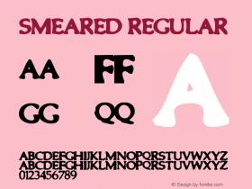 Smeared Regular Macromedia Fontographer 4.1.5 1999-10-17 Font Sample