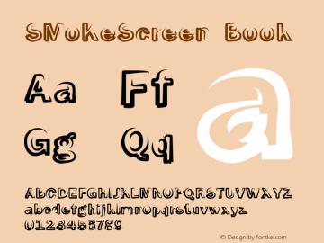 SMoKeScreen Book Version Macromedia Fontograp Font Sample