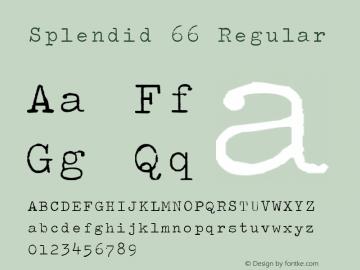 Splendid 66 Regular Steffo's Olympia (v 2.0) Font Sample