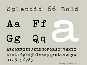 Splendid 66 Bold Steffo's Olympia (v 2.0) Font Sample