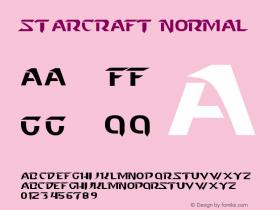 Starcraft Normal Version 1.0 Font Sample