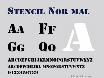 Stencil Normal 1.0 Tue Dec 14 15:31:07 1993 Font Sample