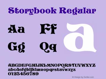 Storybook Regular Altsys Fontographer 3.5  9/25/92 Font Sample