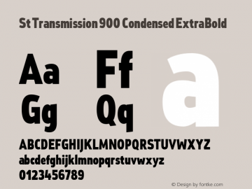 St Transmission 900 Condensed ExtraBold 1.000图片样张