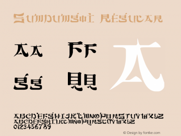 Sumdumgoi Regular Altsys Fontographer 3.5  10/2/92 Font Sample