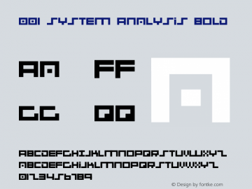 001 System Analysis Bold Version 1.00 June 15, 2006, initial release图片样张