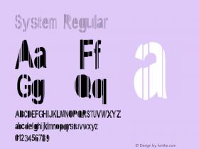 System Regular Version 1: June 7, 2009图片样张