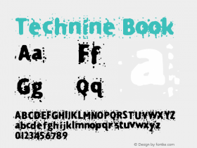 Technine Book Version Macromedia Fontograp图片样张