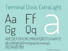 Terminal Dosis ExtraLight Version 1.007图片样张