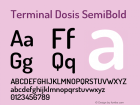 Terminal Dosis SemiBold Version 1.007图片样张
