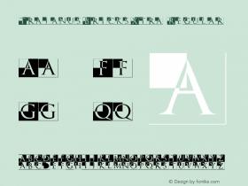 TrajanusBricksXtra Regular 1.0 2004-06-11 Font Sample