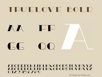 TrueLove Bold Version 1.000图片样张