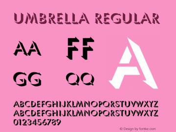 Umbrella Regular Version 1.0 Font Sample