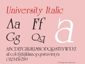 University Italic 1.0 Sat May 29 18:07:52 1993图片样张