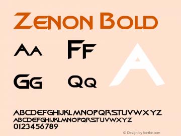 Zenon Bold Rev. 003.000图片样张