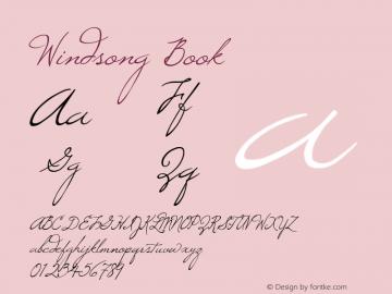 Windsong Book Version Macromedia Fontograp Font Sample