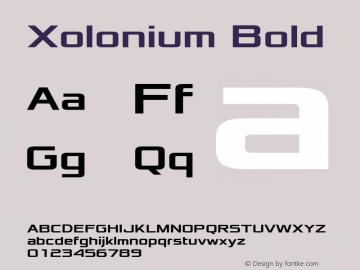 Xolonium Bold Version 2.0图片样张