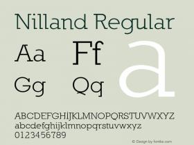 Nilland Regular 1.0 2005-03-11 Font Sample