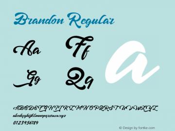 Brandon Regular Version 1.000 Font Sample