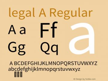legal Regular Version 1.000;PS 1;hotconv 1.0.88;makeotf.lib2.5.64775图片样张