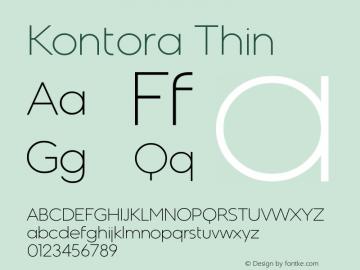 Kontora Thin Version 1.00 October 4, 2016, initial release Font Sample