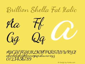 Brillion Shella Fat Italic Version 1.000图片样张
